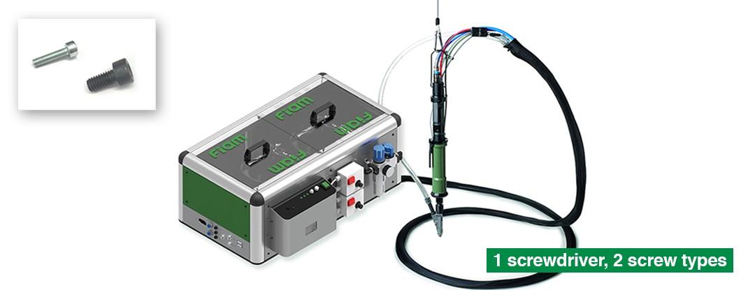 Solutions pour une Smart Factory: visser deux types de vis différentes avec une seule visseuse automatique
