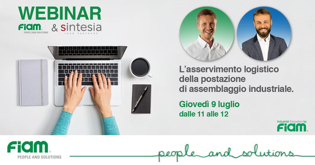 WEBINAR 09/07/2020 - L'asservimento logistico della postazione di assemblaggio industriale.