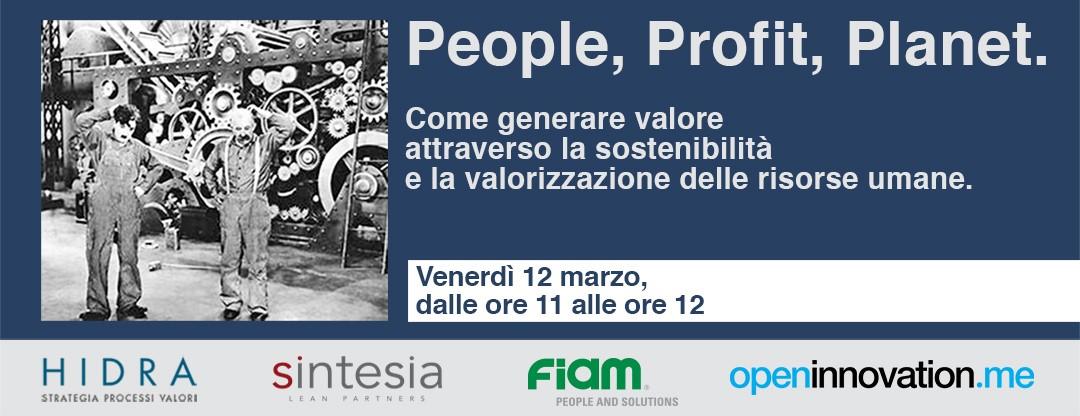 Webinar 12 marzo ore 11 – People, Profit, Planet. Sostenibilità e valorizzazione delle risorse umane